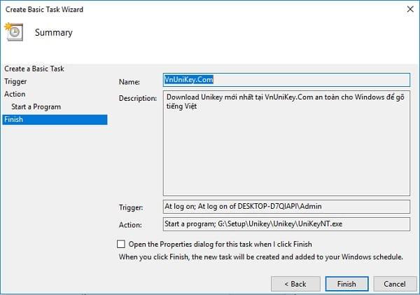 Cách tự động luôn chạy Unikey bằng quyền Admin 9