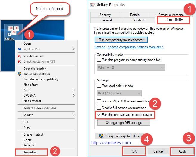 Cách tự động chạy Unikey bằng quyền Administrator trên Windows 21